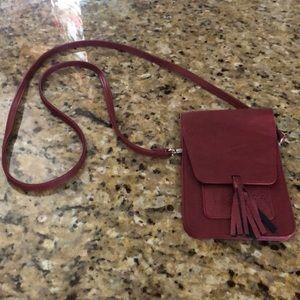 Handbags - VERY nice genuine leather, Crimson crossbody bag